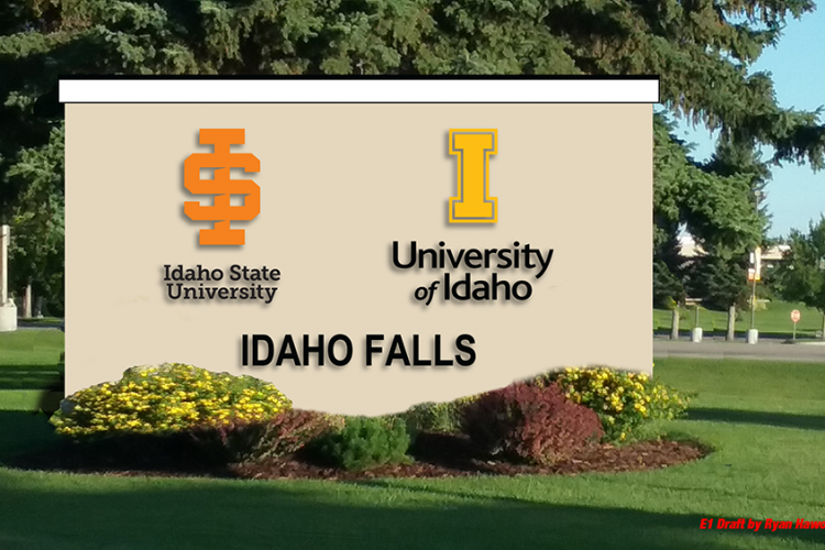 university sign in Idaho Falls